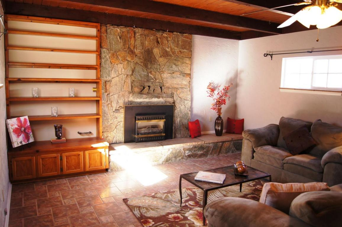 Family Room and Fireplace with Staging