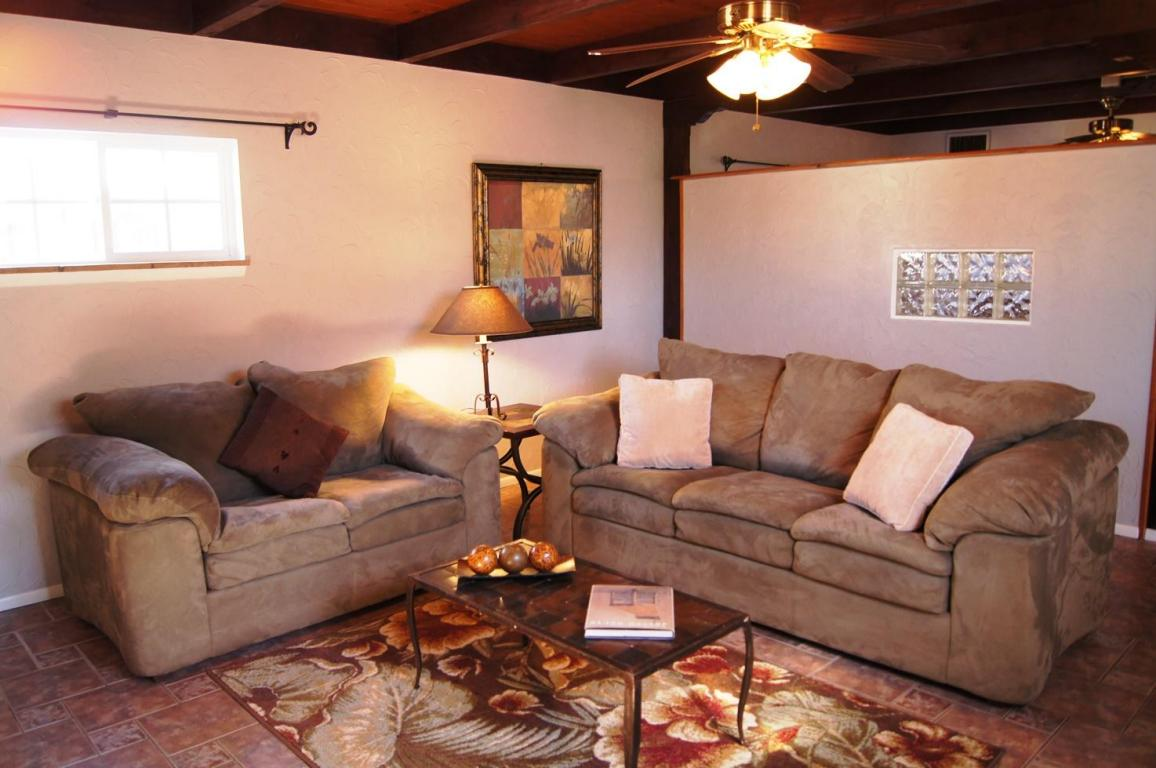 Family Room with Staging